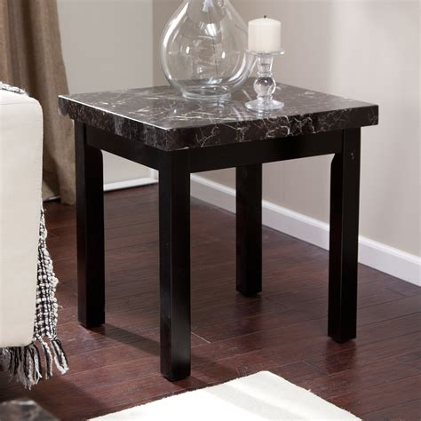 fake marble table tops galassia faux marble end table end tables at hayneedle