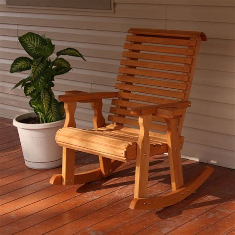 centerville amish heavy duty 600 lbs roll back outdoor rocker