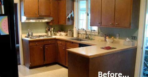 apartment therapy kitchen cabinets before after s 500 kitchen makeover 4155
