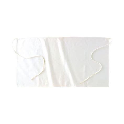 tablier blanc de cuisine tablier cuisine demi chef blanc en coton pas cher