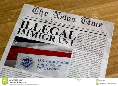 Illegal Immigrant Headline Stock Photo Image Of Legal