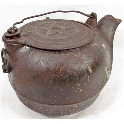 old cast iron vintage cast iron tea kettle
