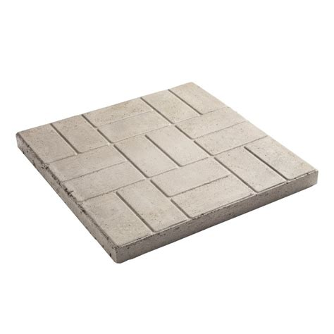 decor 24 in square brick pattern patio stone at lowe s