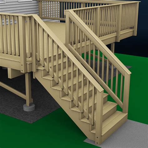 Porch Stair Handrail by How To Build A Deck Wood Stairs And Stair Railings
