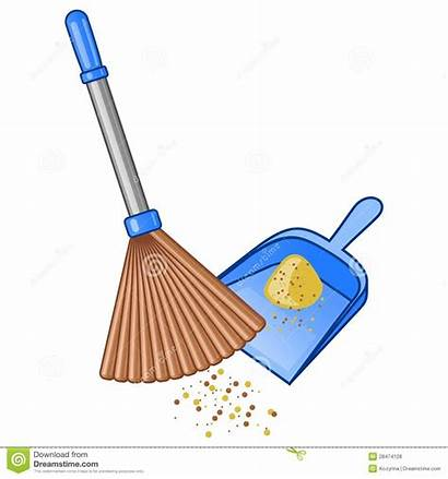 Broom Dustpan Bezem Blik Scopa Vassoura Illustratie