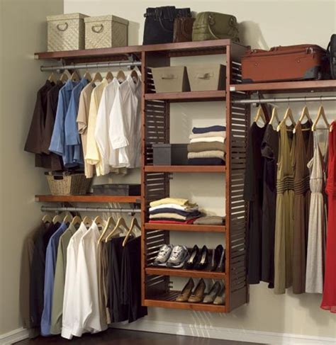 deluxe wood closet system in ventilated wood closet system