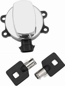 Drag Specialties Chrome Ignition Switch  U0026 Keys 11