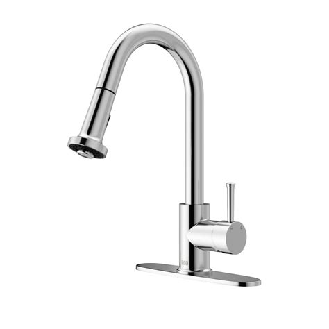 kitchen faucet deck plate vigo chrome pull out spray kitchen faucet with deck plate the home depot canada