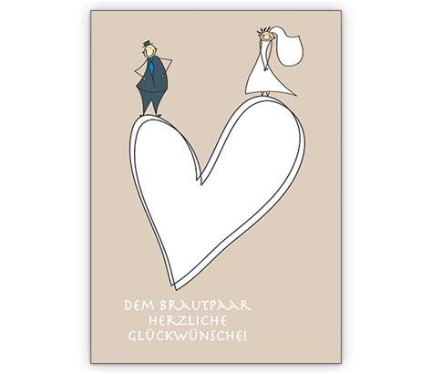 romantische hochzeits glueckwunschkarte mit herz