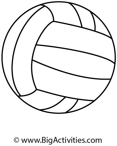 Easy Draw Volleyball Ball