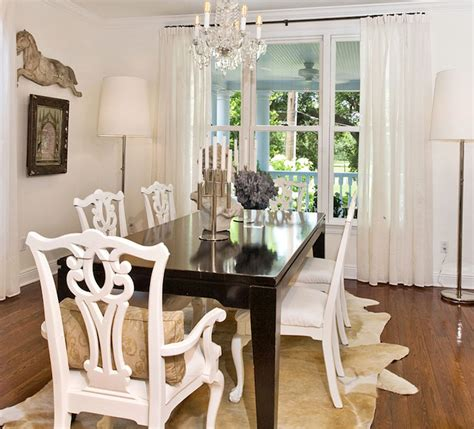 white chippendale chairs eclectic dining room