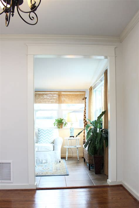 Dining Room Trim Ideas - diy craftsman cased opening trim checking in with chelsea