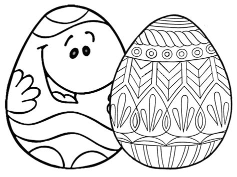 7 Places For Free, Printable Easter Egg Coloring Pages