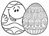 Easter Coloring Pages Egg Eggs Printable Places Ws Face sketch template