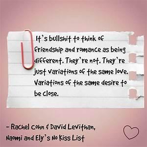 Naomi and Ely's No Kiss List, Rachel Cohn and David ...