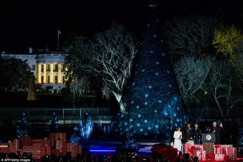 obama and the family light the national