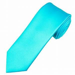 Plain Aquamarine 6cm Skinny Tie from Ties Planet UK