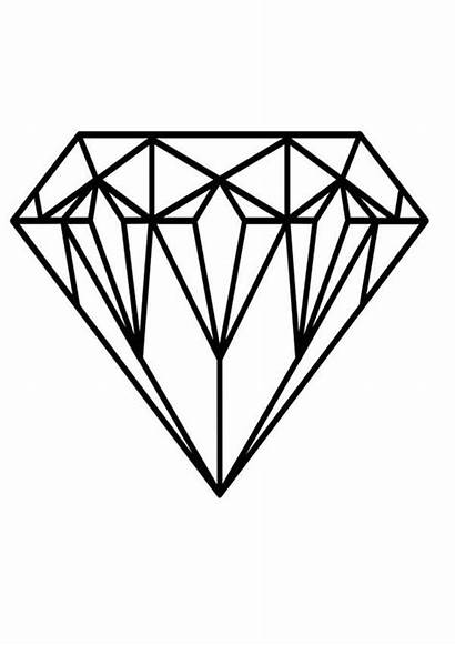Diamonds Coloring Colouring Diamond Draw Shape Drawing