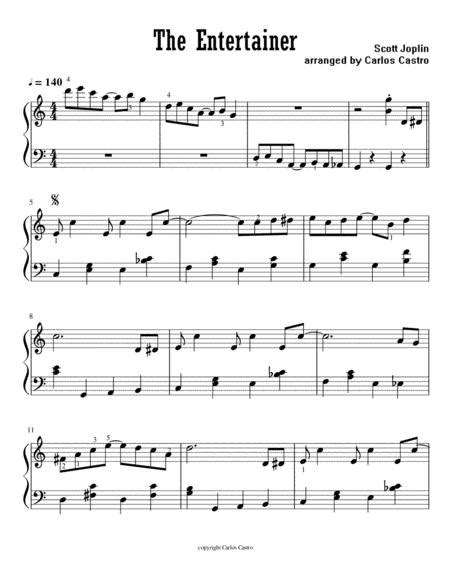 All ▾ free sheet music sheet music books digital sheet music musical equipment. The Entertainer Easy Piano By Scott Joplin (1868-1917) - Digital Sheet Music For - Download ...