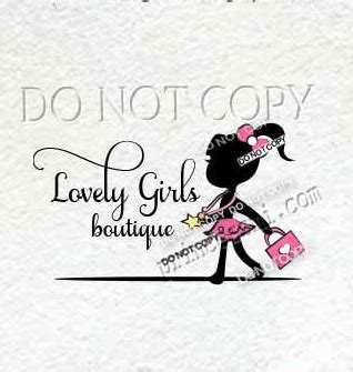 kids business logo child girl logo girl fashion logo