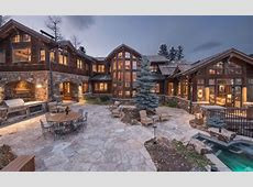 $1395 Million Wood & Stone Mansion In Beaver Creek
