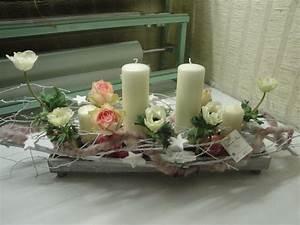 Art Floral Centre De Table Noel : composition florale noel blanc ~ Melissatoandfro.com Idées de Décoration