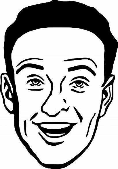 Face Smiling Clipart Male Clip Mans Protection