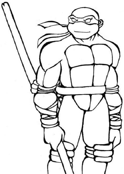 Tortugas Ninja para colorear Dibujos animados sencillos