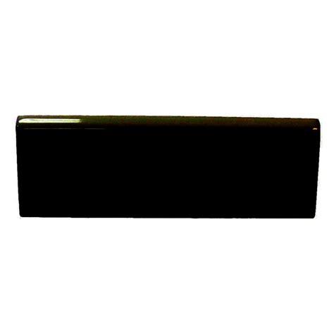 shop interceramic wall tile black ceramic bullnose trim