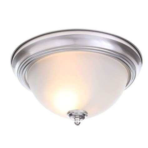 commercial ceiling light covers commercial electric 2 light brushed nickel flushmount 2