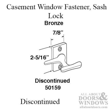 discontinued casement window fastener sash lock