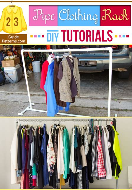 pipe clothing rack diy tutorials guide patterns