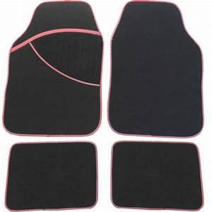 Tapis Noir Et Rouge : tapis voiture pas cher moquette noire et contour rouge star ~ Dallasstarsshop.com Idées de Décoration