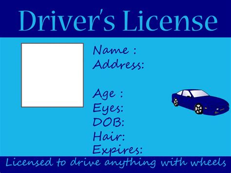 preschool license california driving and fishing license free printable crafts 260