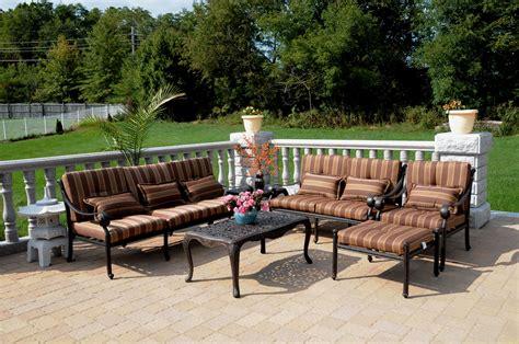 patio furniture seating set cast aluminum 6pc dwl