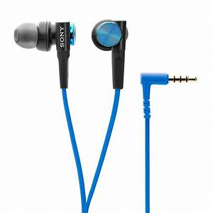 New Sony Mdrxb50ap  Blu Extra Bass Earbud Headset Mdr