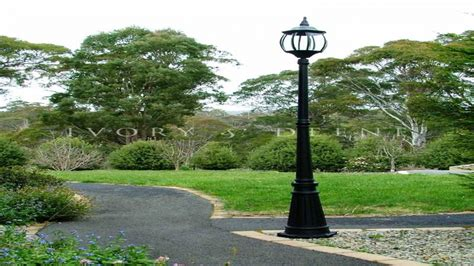 solar post lanterns outdoor l post lighting for