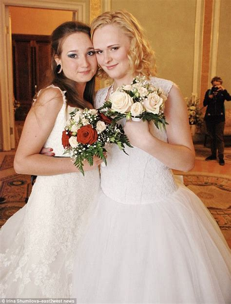 Moment Russian Lesbian Couple Walk Down Aisle Thanks To
