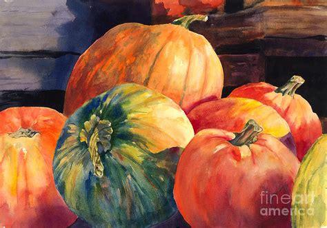 pumpkins  green pumpkin painting  hilda vandergriff