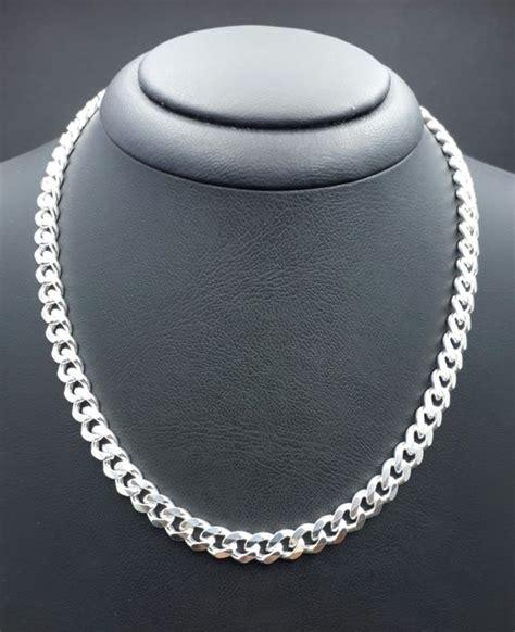 italian sterling silver mens hollow miami cuban link