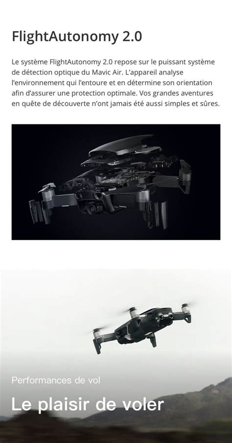 dji mavic air fly  combo noir onyx mavic air flymore noir