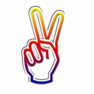 Finger Peace Sign Symbol - ClipArt Best