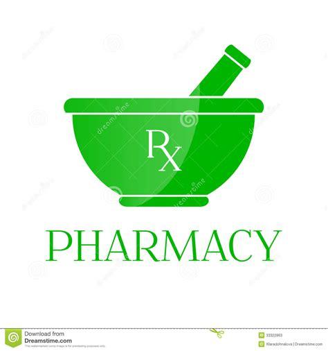 l desk pharmacy symbol mortar in green color stock photos