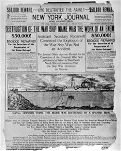 Sinking Of The Uss Maine Yellow Journalism by Laparanoia The Hearst Conspiracy