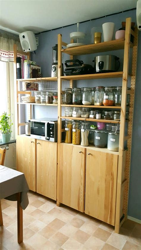 ikea ivar lyra house   kitchen pantry cabinet