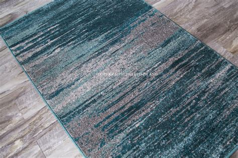 Teal And Gray Area Rug by 5x8 5 3 Quot X 7 7 Quot Artistic Modern Contemporary Teal Gray