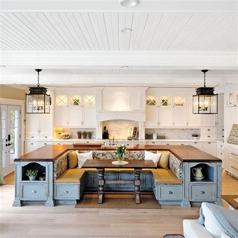 kitchen island with built in seating total survival