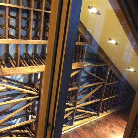 small area   stairs  brought  life   wine cellar master builder  vancouver