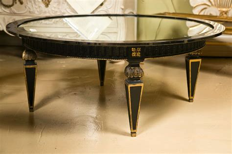 Shop furniture, lighting, storage & more! French Empire Style Ebonized Circular Coffee Table For Sale at 1stdibs