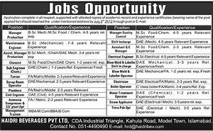 Mechanical Engineering and Technical Staff Required in ...